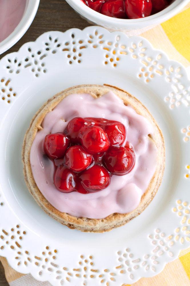Cherry Yogurt Waffles Cherries