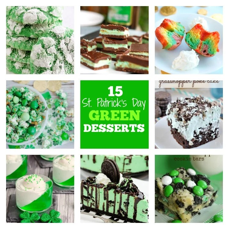 15 St. Patrick's Day Green Desserts