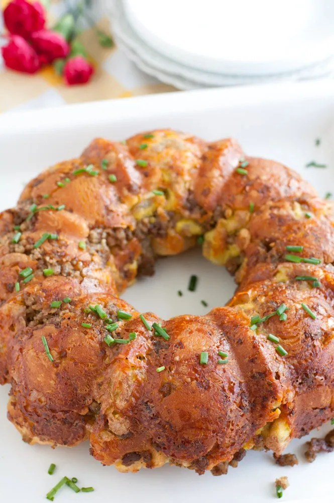 Sausage, Egg and Cheese Monkey Bread