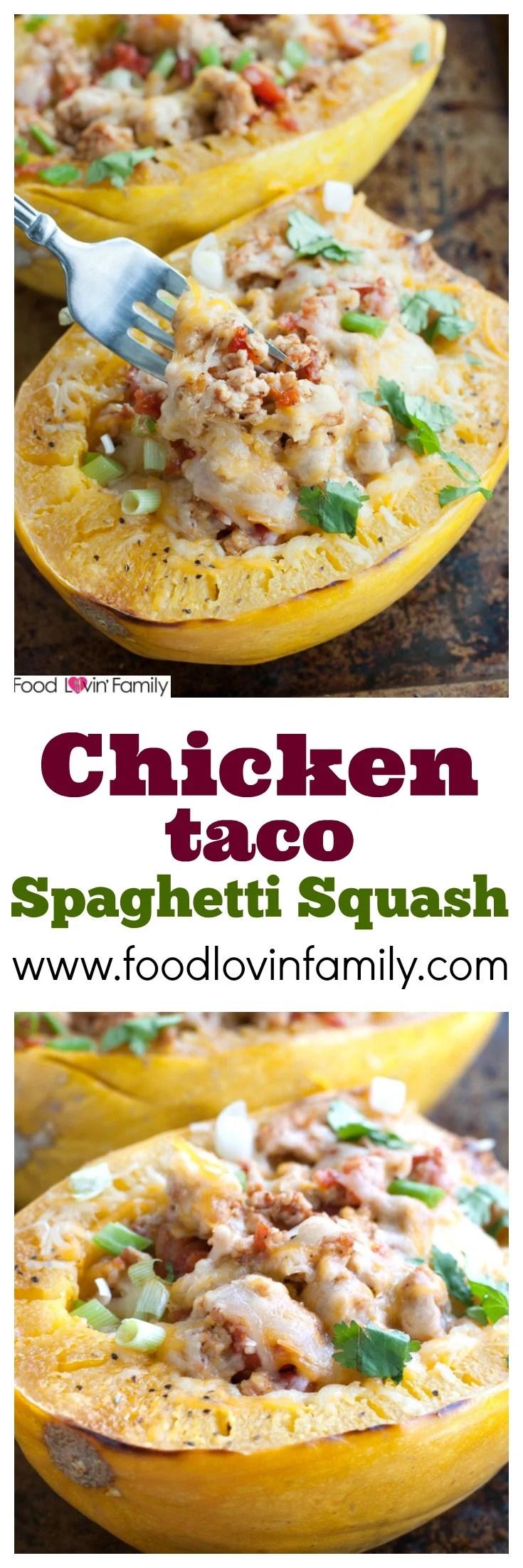 Chicken taco spaghetti squash pin
