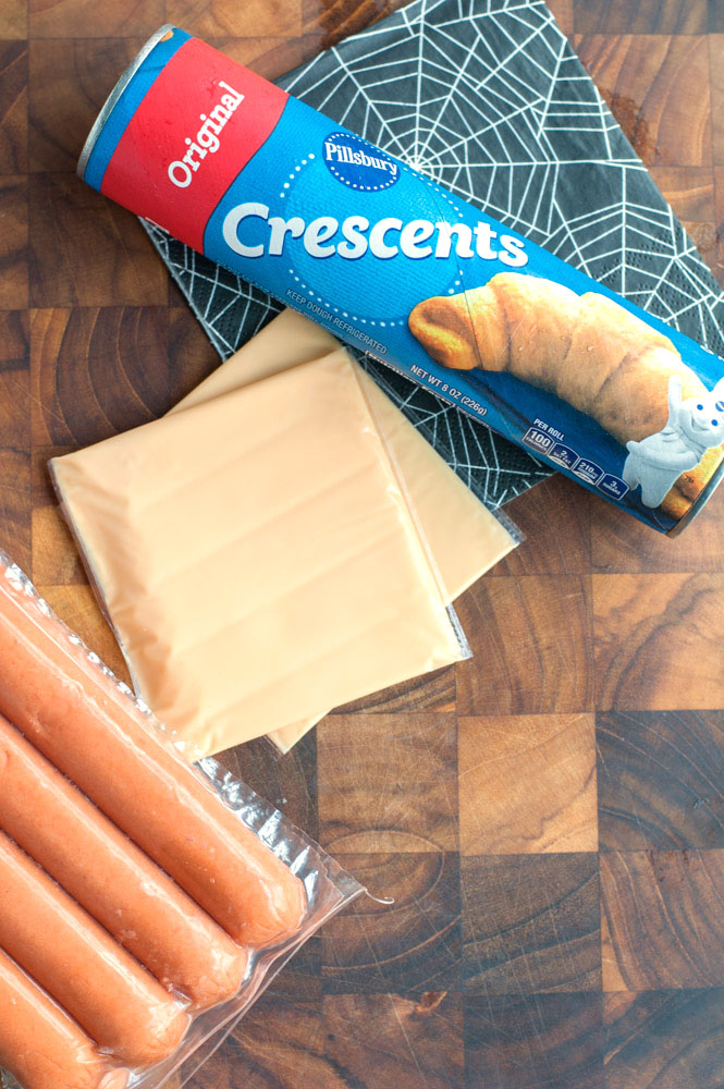 crescent mummy hot dogs ingredients