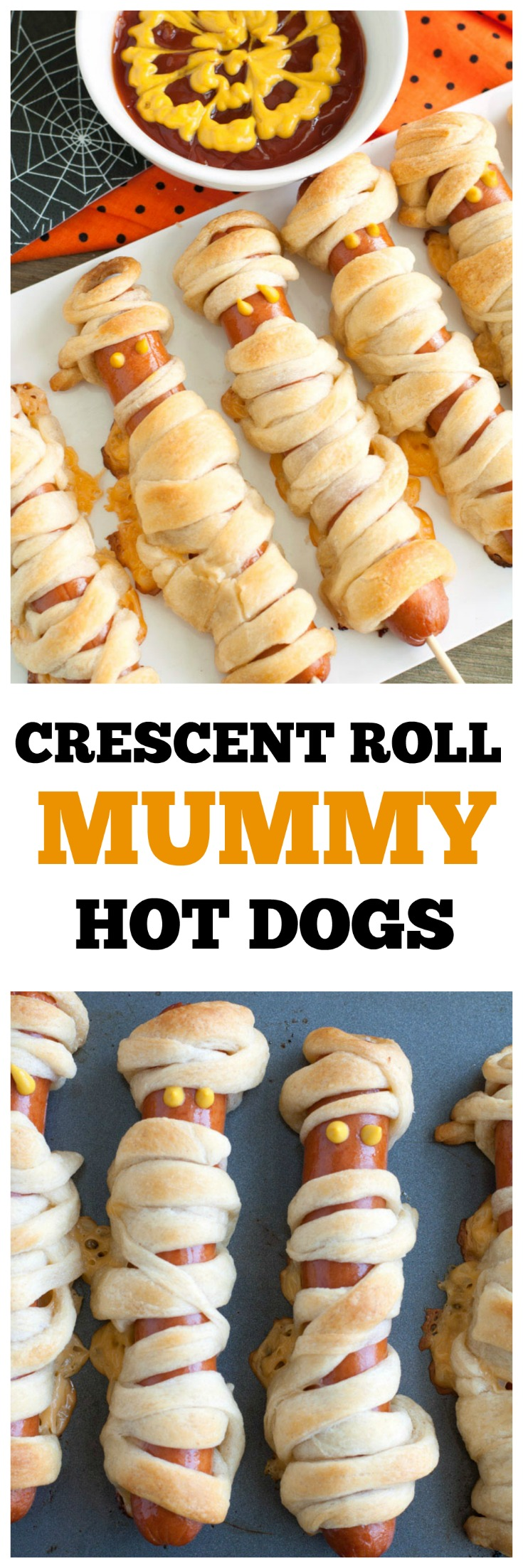 Crescent Roll Mummy Hot Dogs PIN