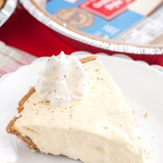Easy No Bake Eggnog Pie