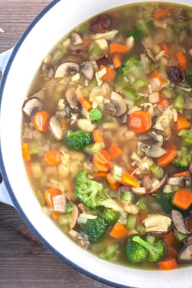 Big pot of soup