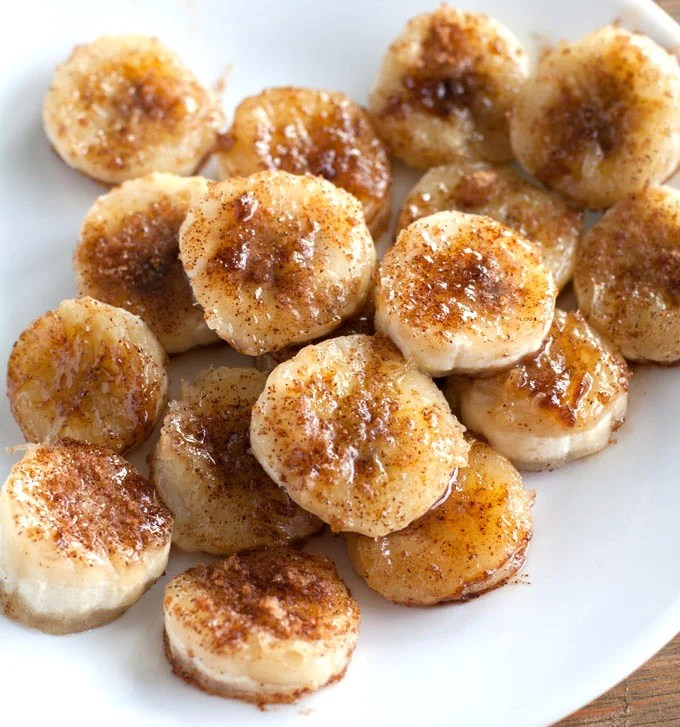 Fried Bananas on a plate