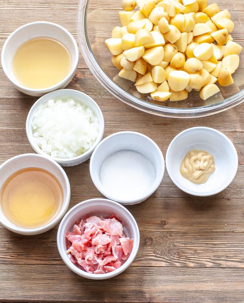 Ingredients for German Potato Salad Recipe