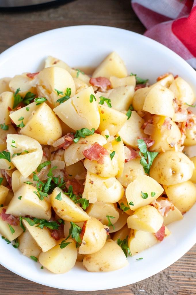 German Potato Salad in a bowl