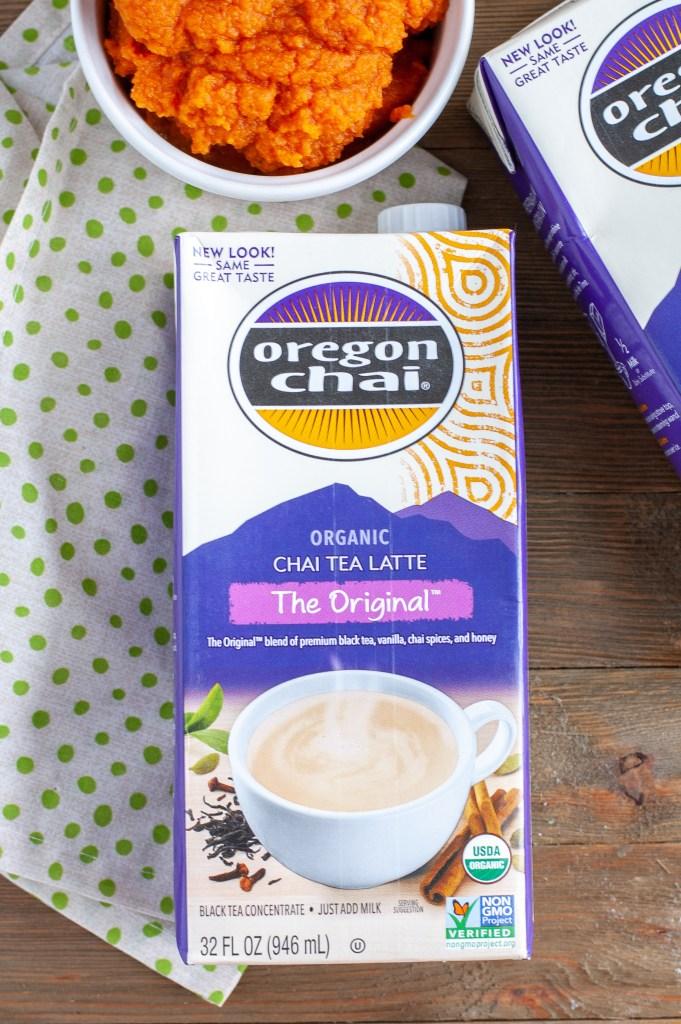 Box of oregon chai tea