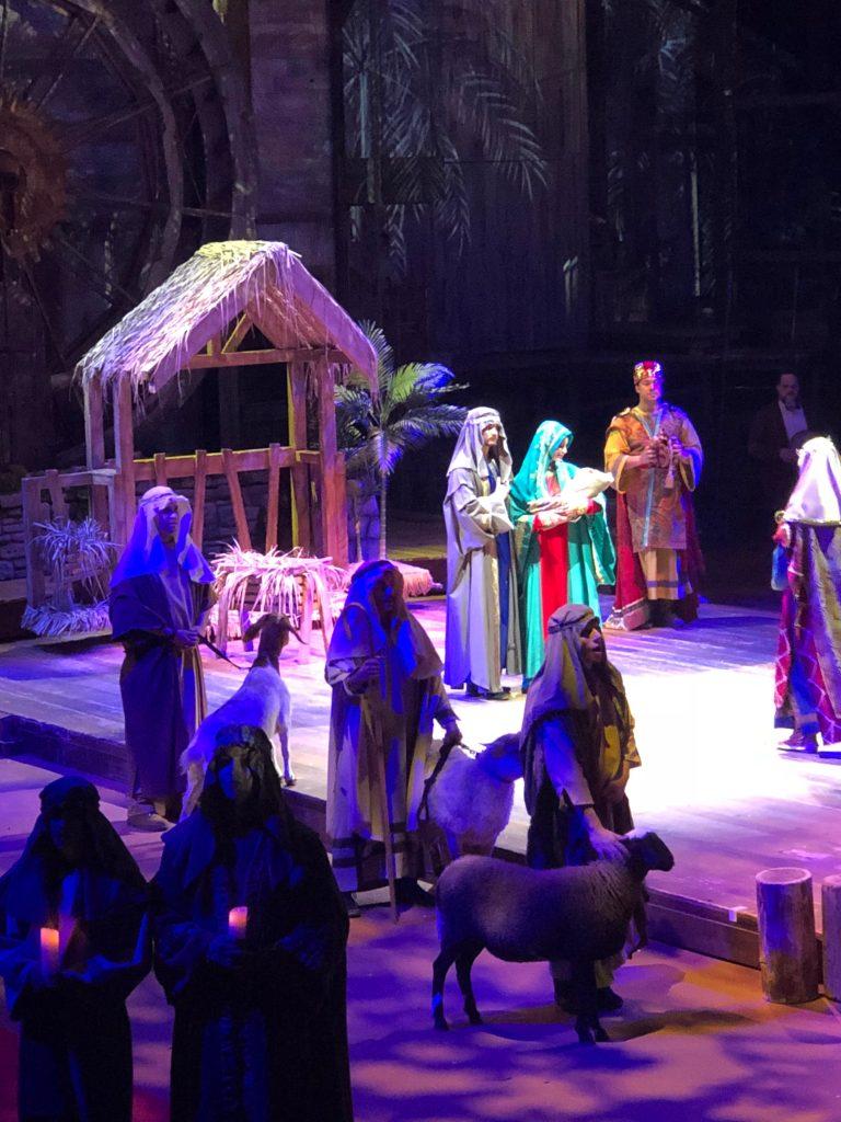 Christmas show nativity scene
