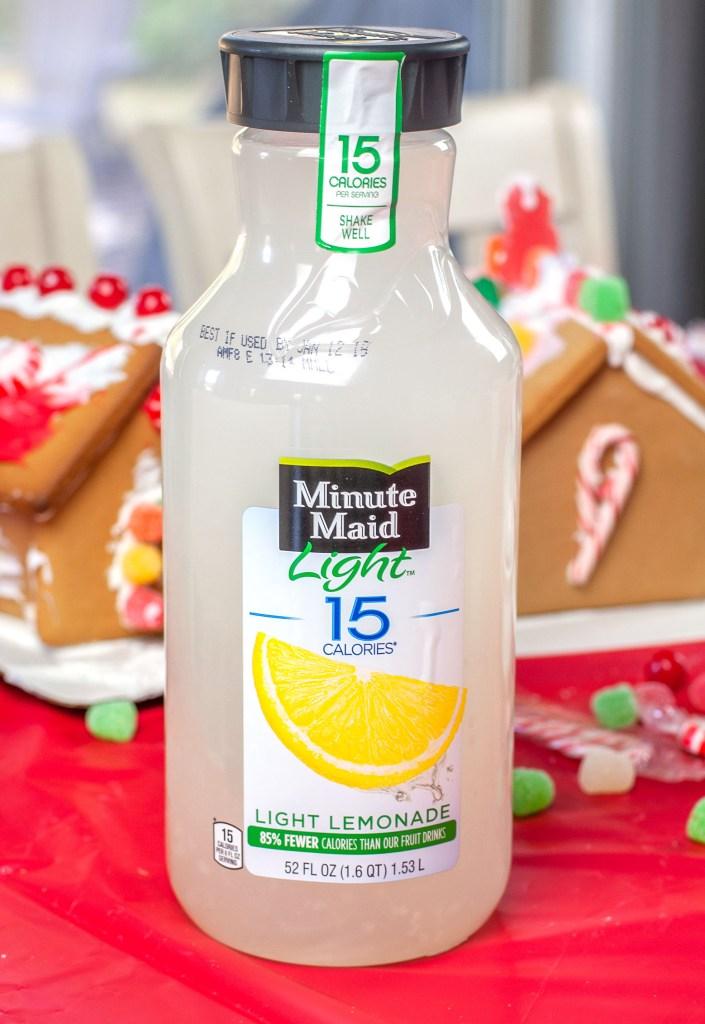 Bottle of lemonade.