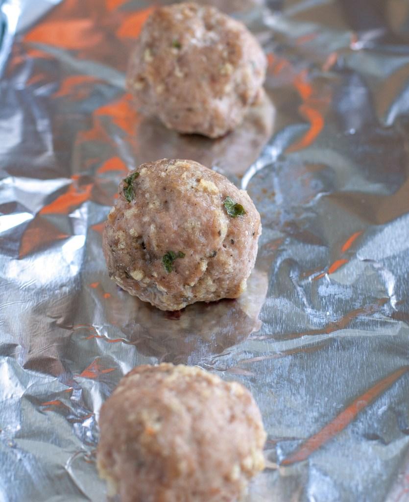 Turkey Meatballs on sheet pan