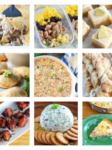 Collage of meals.