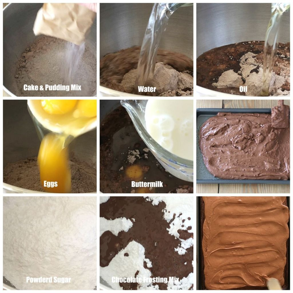 Steps to making sheet cake