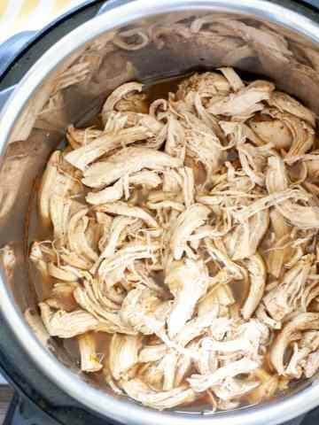 Shredded chicken in pressure cooker