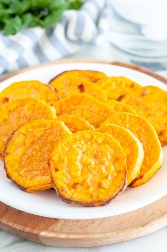 sweet potato slices on a plate