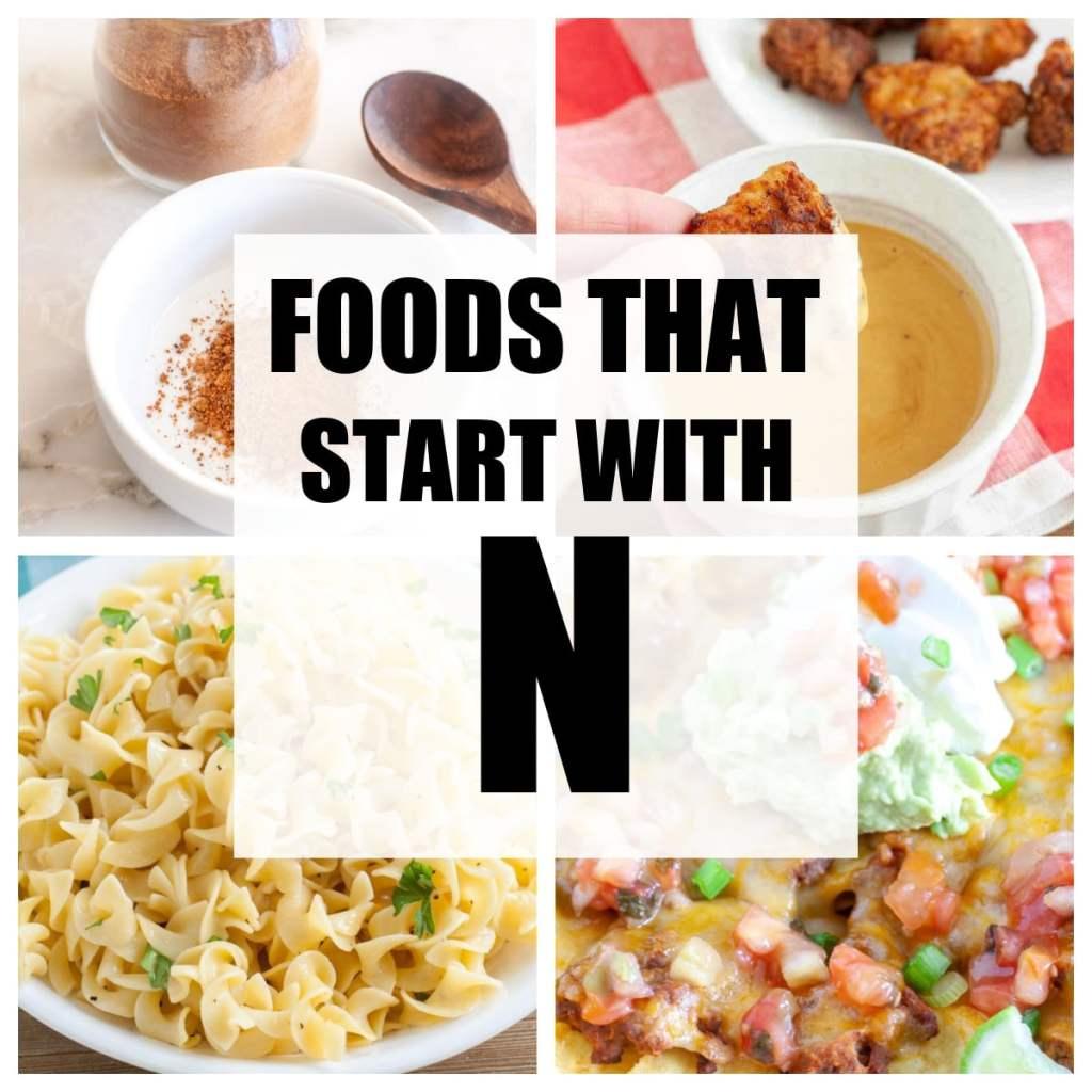 N. ile başlayan yiyecekler.
