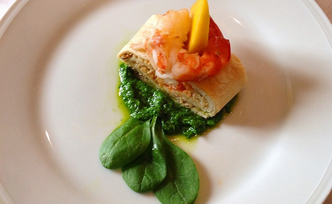 Gamberoni – Rotolo con spada in salsa verde
