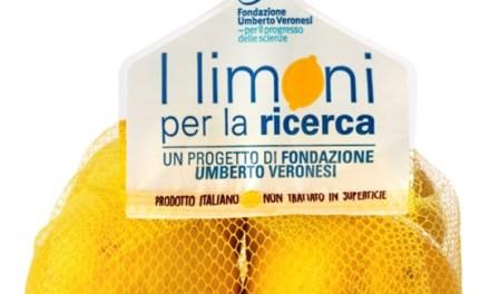 LIMONI PER LA RICERCA: PARTE DOMANI L'INIZIATIVA PER SOSTENERE LA FONDAZIONE UMBERTO VERONESI