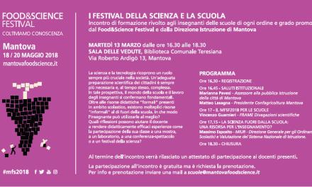 FOOD&SCIENCE FESTIVAL L'equilibrio Seconda edizione Mantova, 18-20 maggio 2018