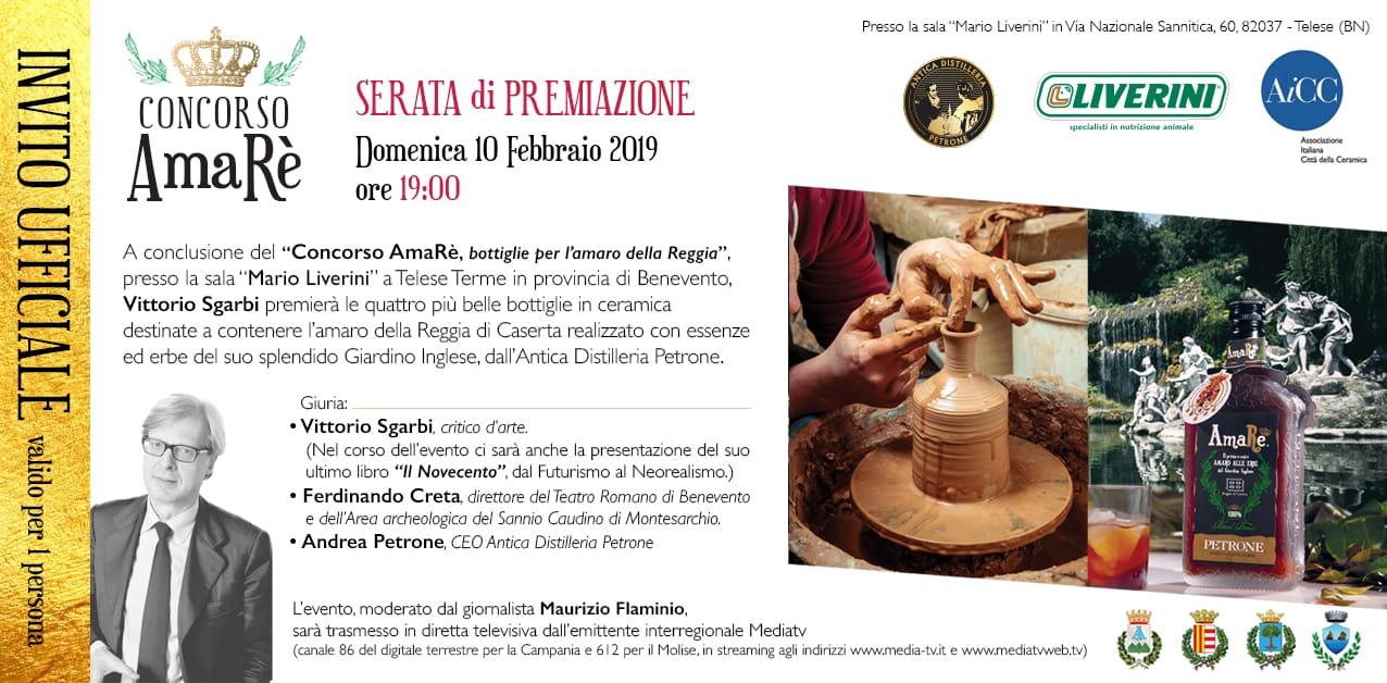 10 febbraio concorso AmaRè con Vittorio Sgarbi