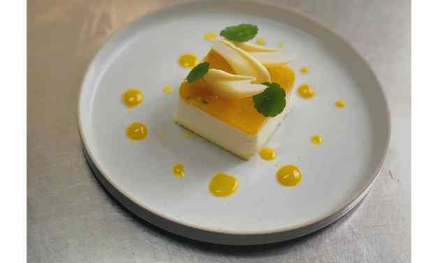 Cheesecake cocco e Frutto della passione