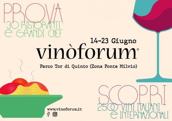 Vinòforum 2019: il programma delle cene dei top tasting – a Roma, 14-23 giugno