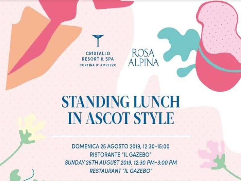 Standing lunch in Ascot style un appuntamento da non perdere
