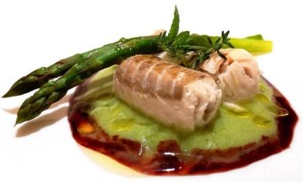 Black cod, asparagi e salsa di ciliegie By Antonio Bello