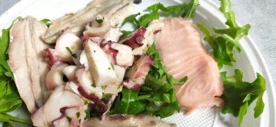 Insalata di mare con polipi e salmone