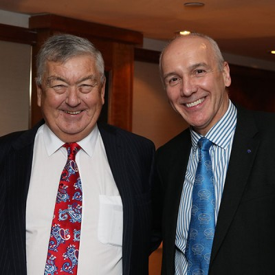Richard Cracknell of ABP with Uel Morton of QMS.