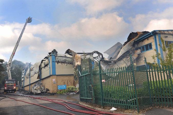 Gordon Rhodes back to production days after 'devastating fire'