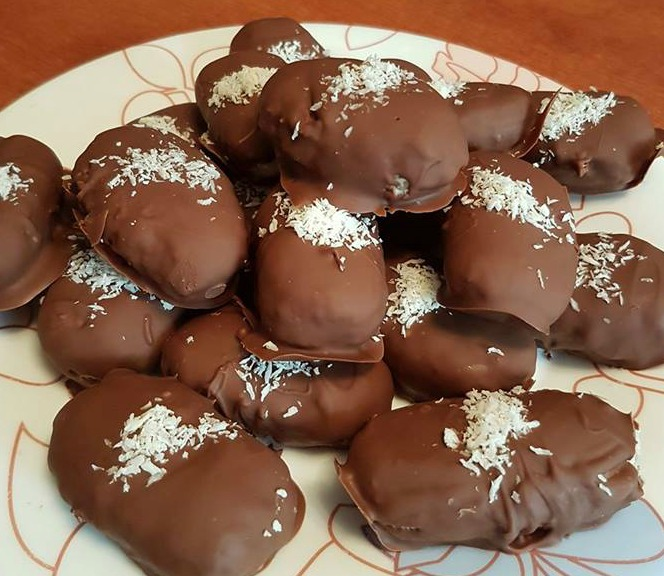 σοκολατάκια με ινδοκάρυδο