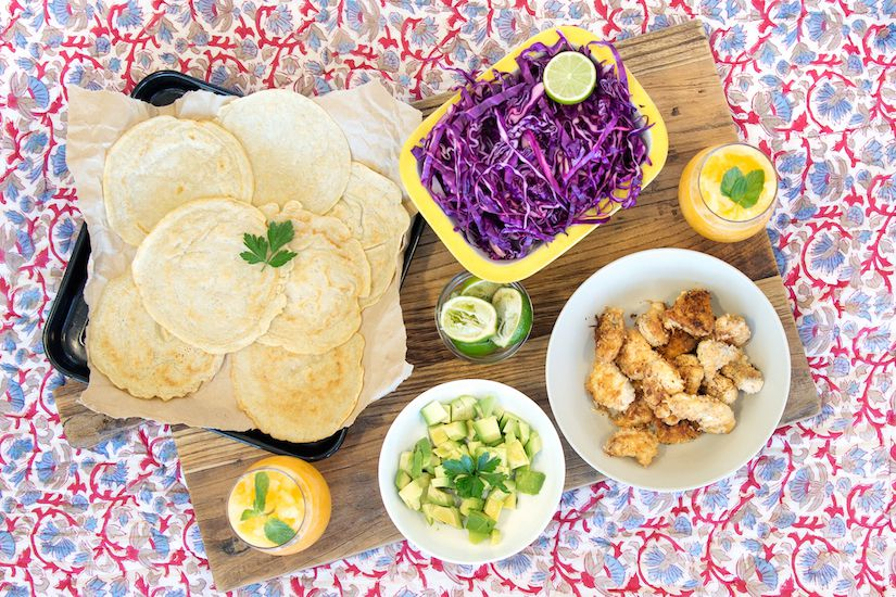 Fish Tacos With Cabbage Slaw And Gluten-Free Tortillas
