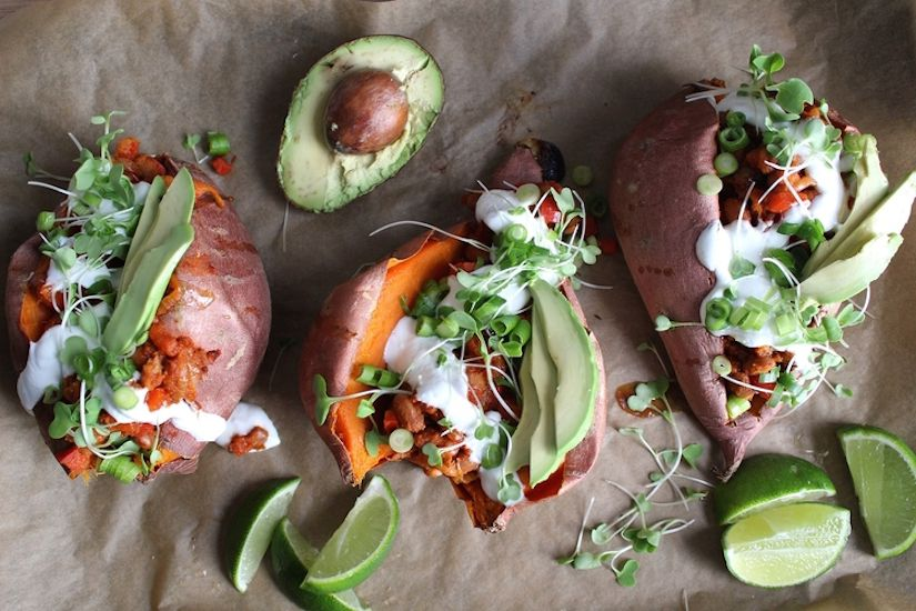 Fully Loaded Sweet Potato (Recipe)