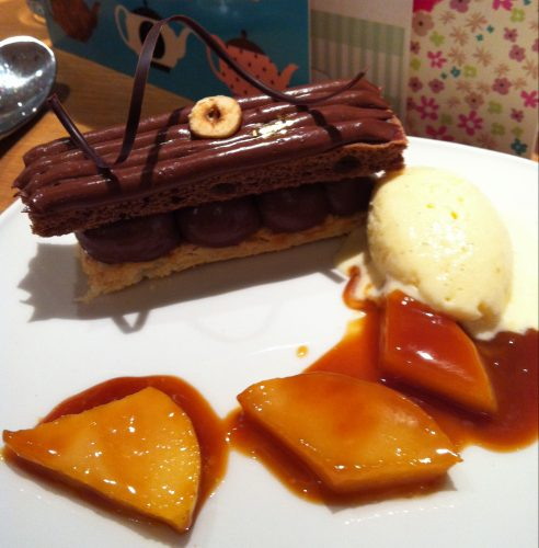 Chocolate Millefeuille at William Curley Dessert Bar, London