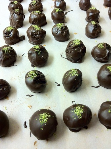 Coated and Sprinkling Margarita Truffles