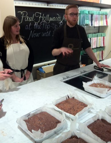 Paul A. Young, at Brownies Masterclass at Fortnum and Mason, London
