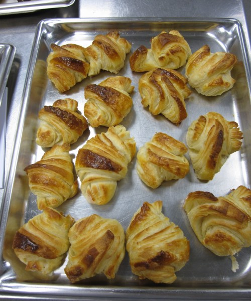 Baked Croissants at London Cookery School