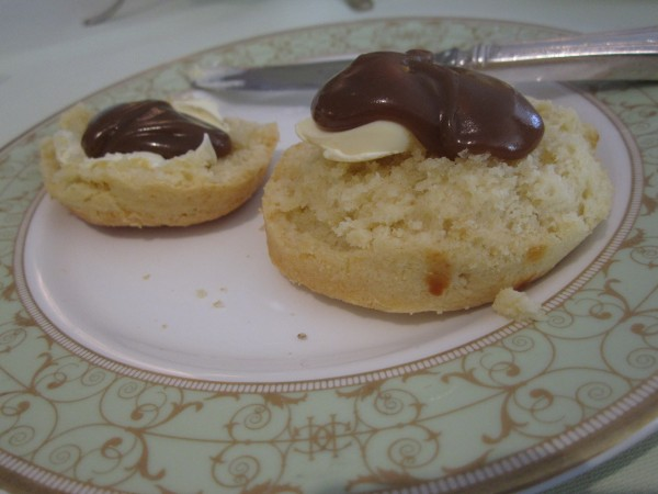Fresh Scones with Clotted Cream and Salted Caramel