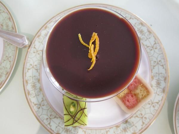 An Orange, English Honey and Geranium Ganache