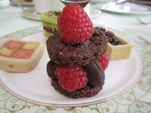 Chocolate Shortcake with Chocolate Ganache and Raspberries