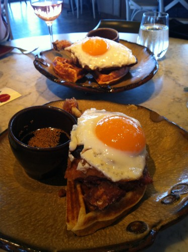 Duck and Waffles at Duck and Waffle, London