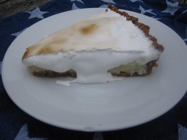 Toasted Marshmallow Topped Key Lime Pie