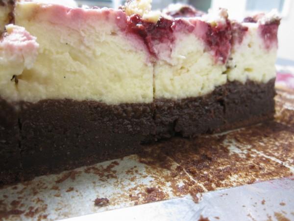 Baked Raspberry Cheesecake Brownies