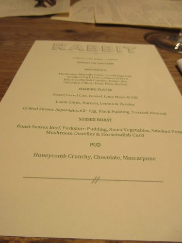 Rabbit Menu, Kings Road