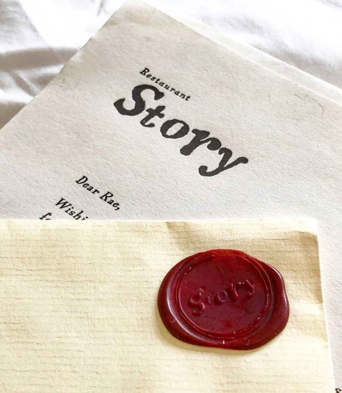 Story Restaurant Wax Seal