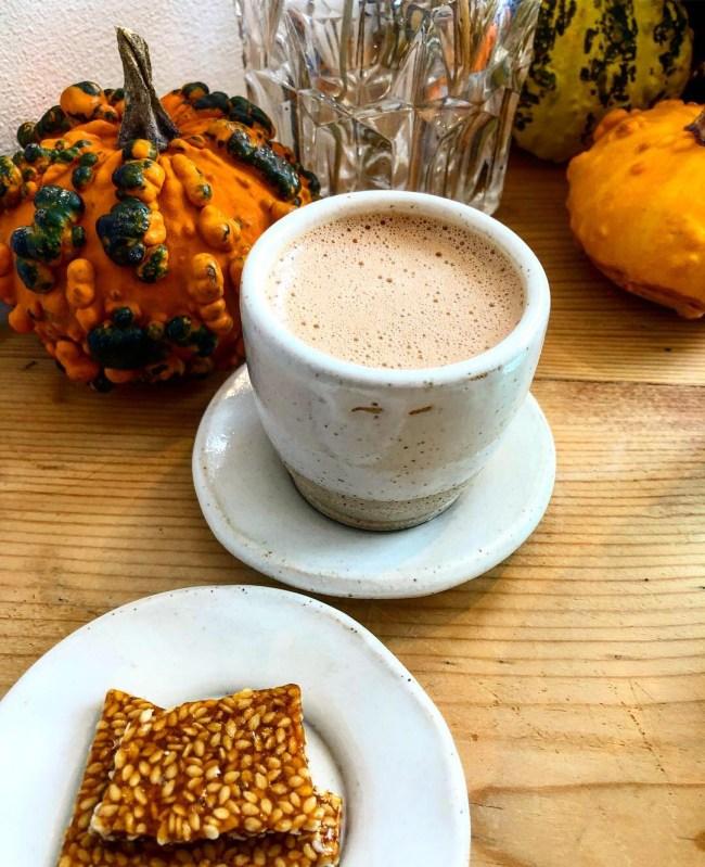Tahini Hot Chocolate from Zara's Chocolates, Bristol