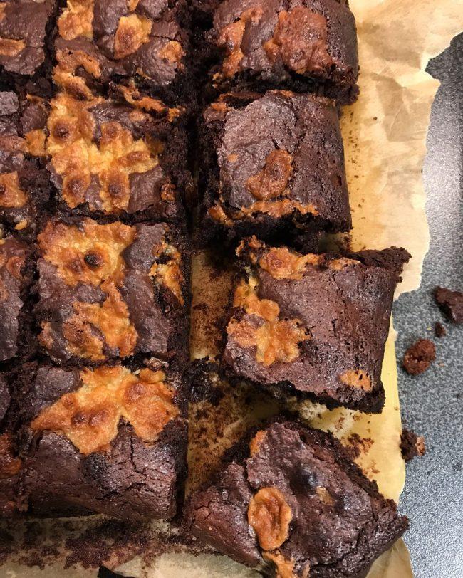 Baked Stollen Brownies