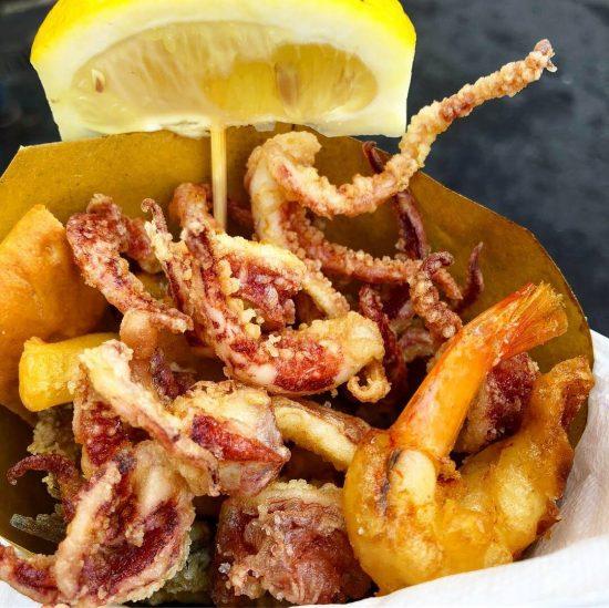 Fried Fish Cone from Friggitoria San Giorgio, on Food Tour of Genoa, Italy