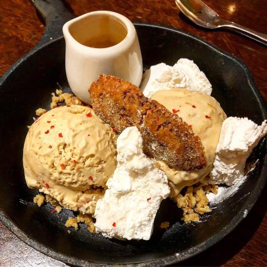 Tiramisu Affogato 'Coffee Liquor Parfait, Cookie Dough, Extract Coffee Espresso, Homemade Marshmallows and Cookie at The Cauldron Restaurant, Bristol